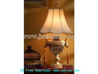 Soft table lamp 3D Model of Classical
