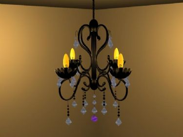 Warm and elegant chandelier