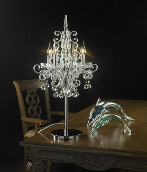 Crystal table lamp Model 05
