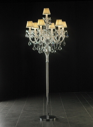 Crystal floor lamp 3D Model 03