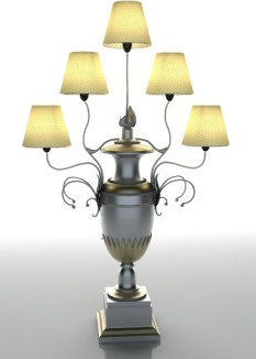 Luxury European-style table lamp 3D Models