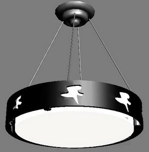 3D model of a modern chandelier 2