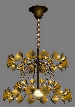 European-style petal lamp Model 4