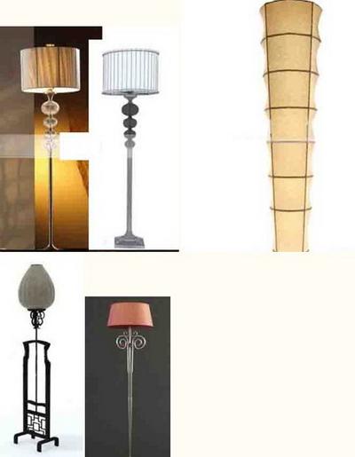 Floor lamp 3D Model of 4