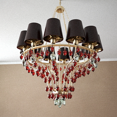 Red crystal chandelier Model