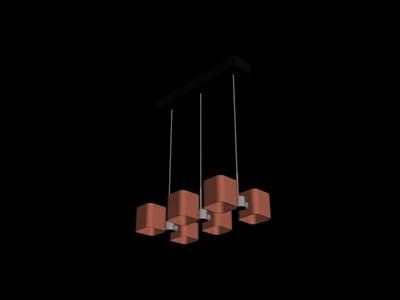 Pendant Lamp Model�� Cuboid Pendant Lamp 3Ds Max Model
