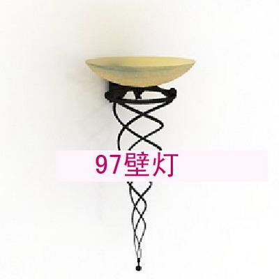 Wall Lamp Model: Torch Shaped Wrounght Iron Wall Lamp