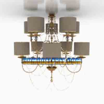 Pendant Lamp Model£ºModern Style Chandelier 3Ds Max Model