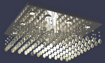 Ceiling Lamp Model   Crystal Strut Ceiling Lamp 3Ds Max Model ...