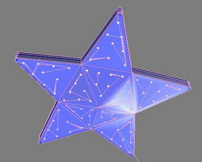 Ceiling Lamp Model: Start Shaped Ceiling Light