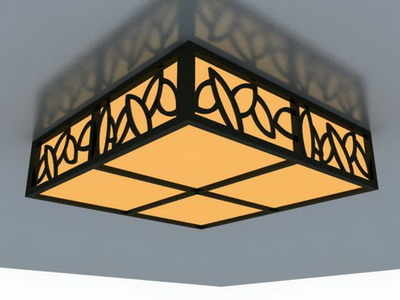 Ceiling Lamp Model: Classical Cuboid Ceiling Lamp