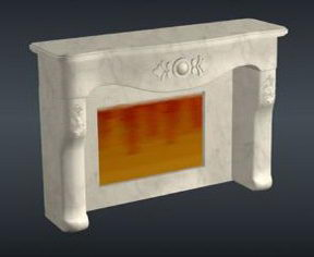 European marble fireplace