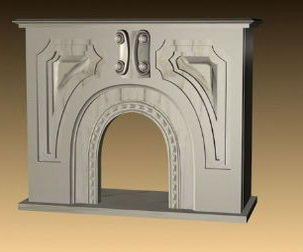 European white fireplace