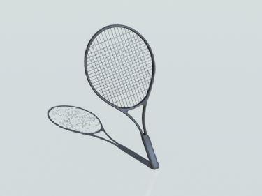 3D Model of badminton racket