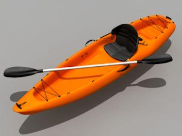 3D model of the orange canoe