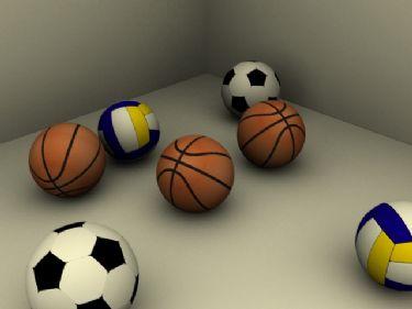 Basketball, soccer, volleyball 3D Models