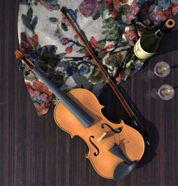 Violin music equipment - 3D models