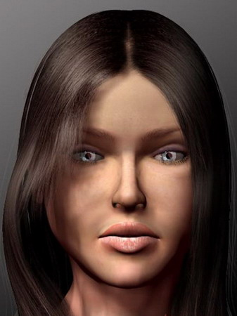 Human Body Part Model: Female Head 3ds Model