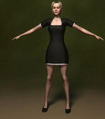 Human Model: White Female 3Ds Max Model 3dmodelfree