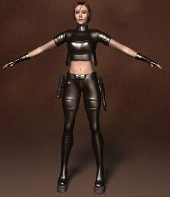 Human 3d Model: Female Special Police 3Ds Max Model