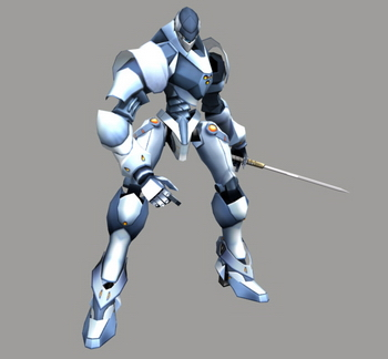 3D Game Character: Attackive Robot