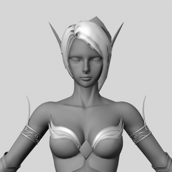 3D PC Game Character: blood elf