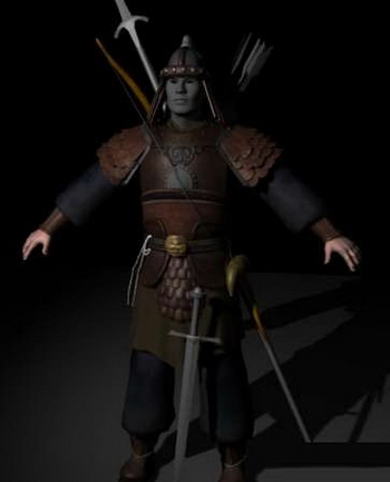 3D Model: Ancient Chinese Warrior 3ds max model