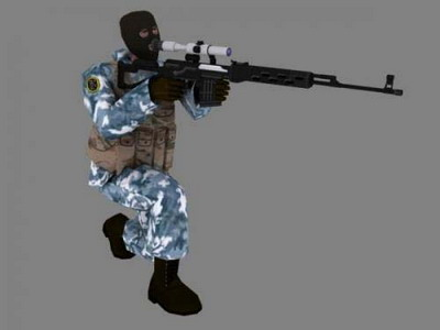 3Ds Max Model: Counter-Strike Game Character Model