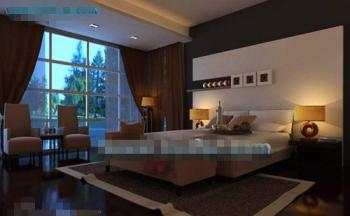 Dark solemn type bedroom