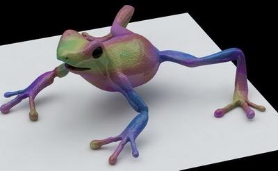Color frogs, c4d formats