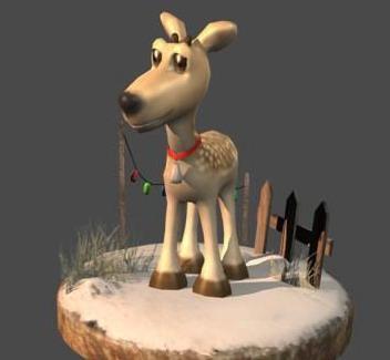 Reindeer 3D models, c4d formats