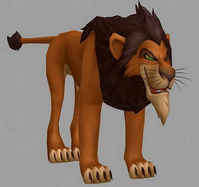 Animal 3D Max Model: Scar, Role of The Lion King