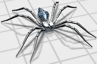 Insect 3Ds Max Model: Mechanical Spider Model