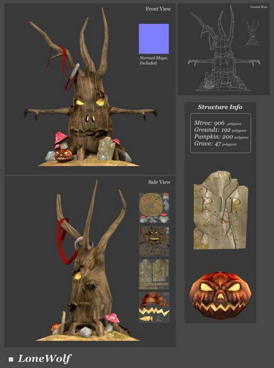3Ds Max Model�� Tree Monster