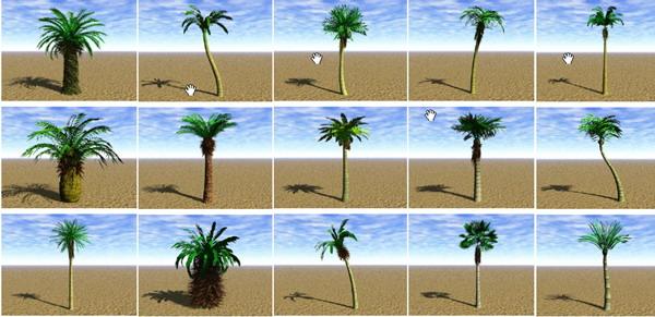 Garden Landscape 3DsMax Models�� Trees