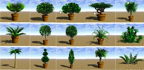 Garden Landscape 3DsMax Models�� Miniature tree