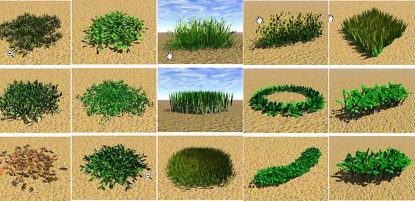 Garden Landscape 3DsMax Models�� Grass