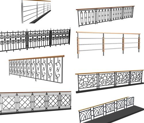 Modern railings    34 cases