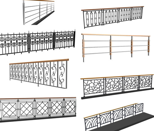 17 set  Wood railings / wooden handrail / wooden staircase column