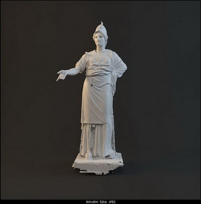Model of the statue of characters-8