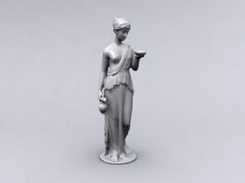 Odalisque Sculpture 3D Models