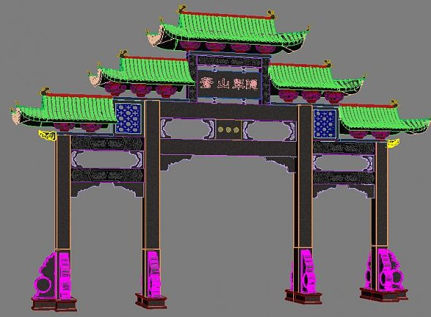 Chinese architectural door