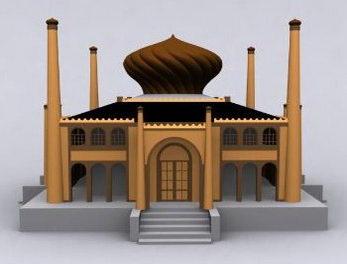 Double-decked House Seaside Villa Exterior Model