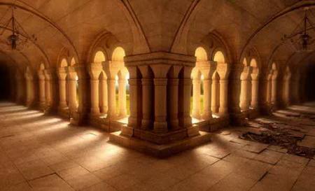 European church corridor