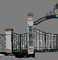 Iron gate 3D Model of cell entry