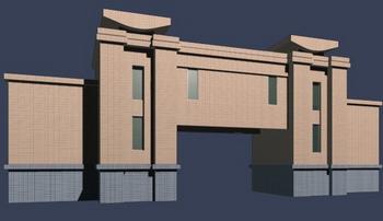 University entrance gate model