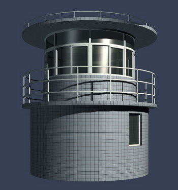 Prison Detention Center to monitor tower model
