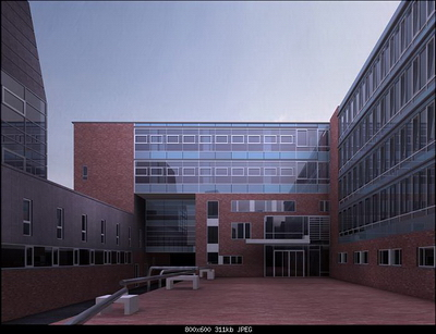 Exterior Design Model: Bussiness Building Terrace