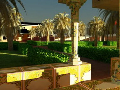 Exterior Design: Southeast Asian Gardern Design 3Ds Max Model