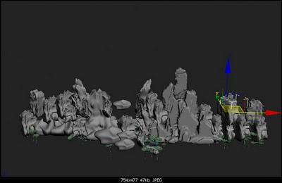 Rockery 3d Model Free Download
